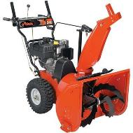 Orange Snow Blower
